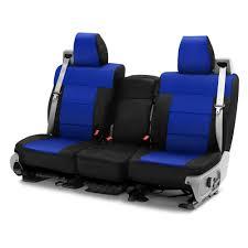 Buy Coverking® CSCF3FD9812 - CR-Grade Neoprene 1st Row Black & Blue ...