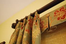 Box Pleated Valances with Buttons Woven Roller Shades & Pleated
