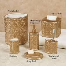 Crackle Glass Bathroom Set by Gold Bathroom Accessories Bathroom Accessory Sets Cheap Olympia