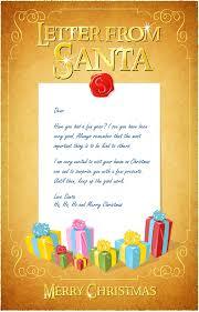 Letter from Santa printables