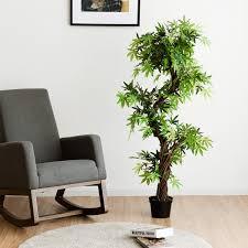 costway kunstpflanze künstliche deko pflanze zimmerpflanze