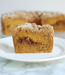 Pumpkin Coffee Cake with Walnut Streusel SundaySupper Baking Sense