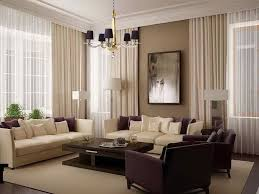 Modern Living Room Curtains Pleasing Design Living Room White