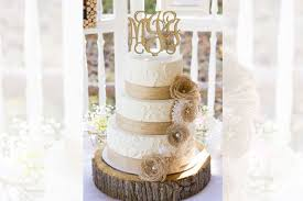11 Rustic Burlap And Lace Wedding Cake