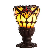 Tiffany Style Glass Torchiere Floor Lamp by River Of Goods Allistar Light Of Remembrance Tiffany Style Stained