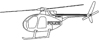Coloring Page Helicopter Transportation 128