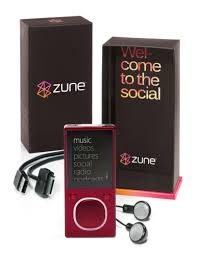 Amazon Zune 8 GB Digital Media Player Red Home Audio Theater