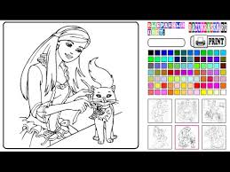 Barbie Coloring Games Online Free