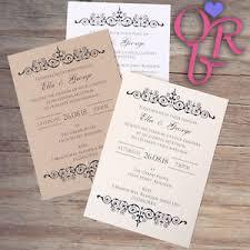 Image Is Loading 10 Handmade Wedding Invitations Day Evening Invites Inc