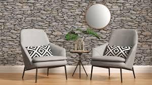 papiertapete il decoro a s création steinwand beige grau schwarz 202