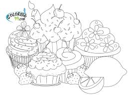 Online For Kid Cupcake Coloring Page 77 Your Pages Kids With