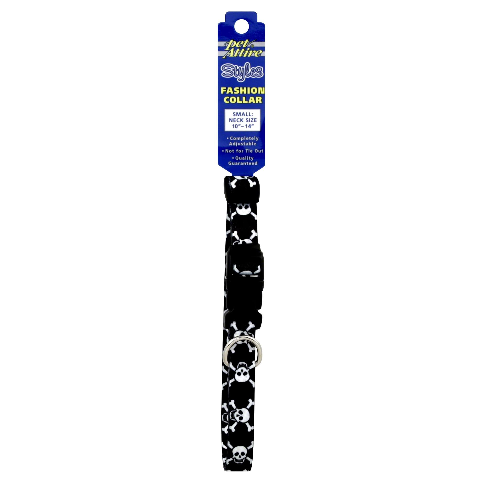 Coastal Pet Attire Styles Adjustable Dog Collar - Skull & Cross Bones