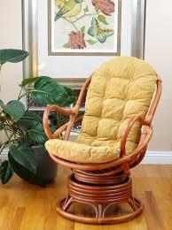 Java Lounge Swivel Rocking Chair Rattan Wicker Handmade W/ Cushion ...