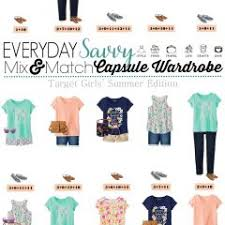 Summer Cute Girl Outfits Mix And Match Capsule Outfit For Girls