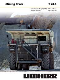 Mining Truck - Liebherr Excavators - PDF Catalogs | Technical ... Off Highwaydump Trucks Arculating Liebherr Ta 230 Litronic Delivers Trucks To Asarco Ming Magazine T282 Heavyhauling Truck Pinterest T 264 Time Lapse Youtube Ltb 1241 Gl Conveyor Belt For Truckmixer Usa Co Formerly Cstruction Equipment 776 On The Wagon Monster Iron Heavy Stock Photos Images Alamy Autonomous Solutions Inc And Newport News Rigid Specifications Chinemarket