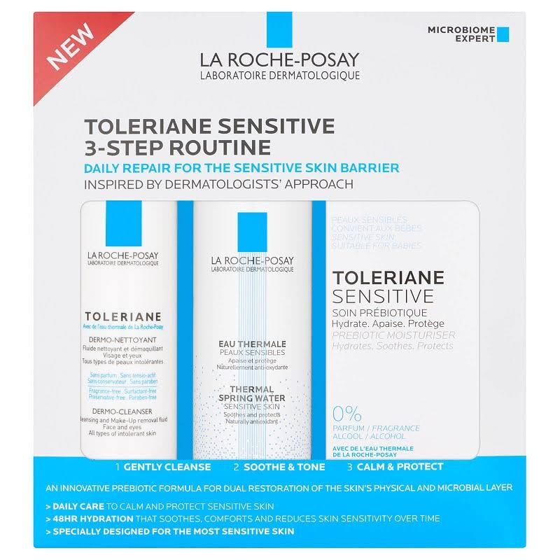 La Roche Posay Toleriane Sensitive 3 Step Routine Skin and Hair Care