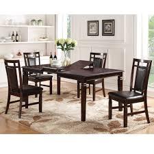 Home Source H 1216 5 Piece Wood Dining Room Set Espresso