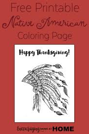 Happy Thanksgiving Native American Coloring Page