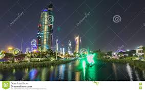 100 Where Is Kuwait City Located Music Fountains In Park With Scape Night