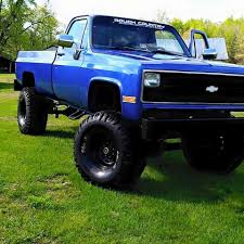 Lifted Blue Chevy