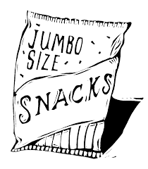 Snack bag with food clipart