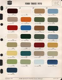 100 Ford Truck Colors 1970 F100 Color Code Question Enthusiasts Forums