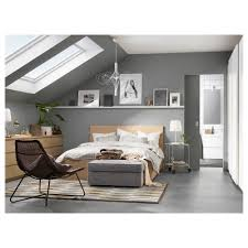 Ikea Nyvoll Dresser Grey by Malm Bed Frame High W 4 Storage Boxes White Stained Oak Veneer