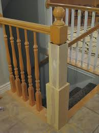 Remodelaholic | Stair Banister Renovation Using Existing Newel ... Rails Image Stairs Canvas Staircase With Glass Black 25 Best Bridgeview Stair Rail Ideas Images On Pinterest 47 Railing Ideas Railings And Metal Design For Elegance Home Decorations Insight Iron How To Build Latest Door Best Railing Banister Interior Wooden For Lovely Varnished Of Designs Your Decor Tips Appealing Banisters Handrails Curved