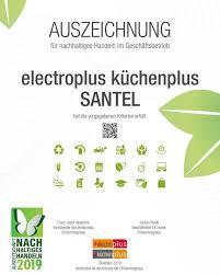 pressemitteilung electroplus küchenplus santel erhält