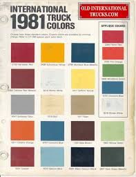 1981 Color Chart. Color Charts • Old International Truck Parts ... Yeti Trophy Truck Cversion 1 Youtube Losi Baja Rey Shock Parts Los233001 Cars Trucks Amain Hobbies Three Micro 136 And T With Parts Truck 1877442322 15 Rovan Baja Lt 45cc Engine Crankcase Cluding Bearing F150 Roush Wheel 20x9 Matte Black Set With Mickey Thompson Monster Energy Recoil Nico71s Creations Fg Diagram Rc Baja Strong Knobby Tyres Cnc 4pcs 32 Rubber 18 Wheels Tires 150mm For 17mm Rc New Products Sltv5 Truck Reverse Honda Unlimited Ridgeline Offroad Reveal Fuel D626 1pc My Pinterest