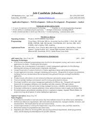 Resume Examples Programmer Templates Design Cover Letter