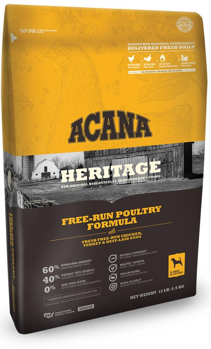 ACANA Free Run Poultry Heritage Dog Food 13 lb