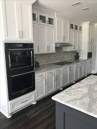 Black Stainless Kitchenaid Appliances White Cabinets Kitchen