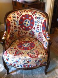 Vintage Walnut Chair Covered In A Silk On Silk Suzani From ... Suzani Fabric By The Yard Prefab Homes Bobbin Chair Best Chairs Gallery Armchair Cup Holder Bloggertesinfo Exotic Floral Anthropologie Amazing Kitchens Africa Rising Of Cape Town Design 2015 Town Capes Exuberant Color My Obt Perfection Bold Colors Unique Print Loving This Sitting Chair Zebra Print Round Leopard Pknmieszkaj Nasza Ciana Z Cegie 3 A W Centralnym Miejscu 181 Best Suzani Images On Pinterest Home Decor Workshop And Patchwork Parker Knoll In Designers Guild Ebay Made