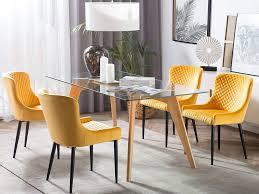 2er set stuhl solano gelb samtstoff ch