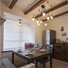 Lixada 8 Armseach With 17m Wire Antique Classic Ajustable DIY Ceiling Spider Lamp Light E27 Retro Chandelier Pendant Dining Hall Bedroom Hotel
