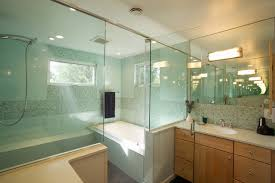 master bathroom with walk in shower contemporary
