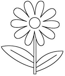 D Is For Daisy Flower Coloring Page