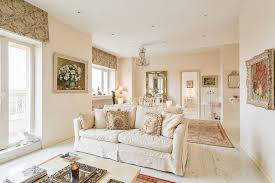 Cottage Chic Semi Formal Living Room White Sofa Slipcover Whitewashed Wood Floors Walls And Ceilings