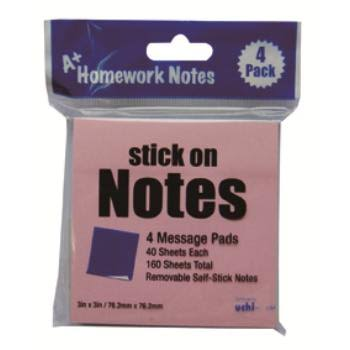 A+Homework Stick On Notes - 160 sheets