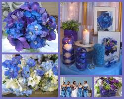 Wedding Blue And Purple Flowers