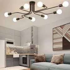 vintage deckenleuchte 8 flammig deckenle kronleuchter licht industrial le e27 lenfassung für wohnzimmer schlafzimmer esszimmer flur bar café