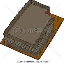 Chocolate Cake With Missing Slice Vector 409