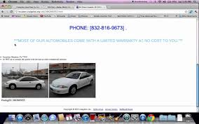 Craigslist Houston Used Cars - How To Search For Used Trucks And ...