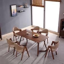 einfache koreanische stil zu hause esszimmer möbel nussbaum mdf 6 sitzer esstisch und stühle buy einfache koreanische stil esstisch und stühle für