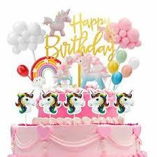 details zu geburtstag torte topper kuchen deko kuchen regenbogen happy birthday girlande