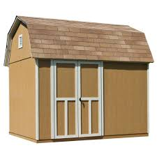 6 X 8 Gambrel Shed Plans by Handy Home Products Briarwood 10 Ft X 8 Ft Wood Storage Shed
