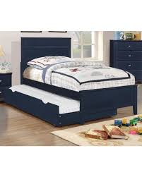 Amazing Deal on Coaster t Ashton Navy Blue Kids Trundle Twin Bed