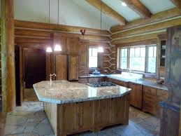 Log Cabin Kitchen Decorating Ideas by Pictures Log Home Kitchen Islands The Latest Architectural