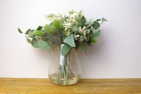 100 Flannel Flower Glass White S And Blue Gum